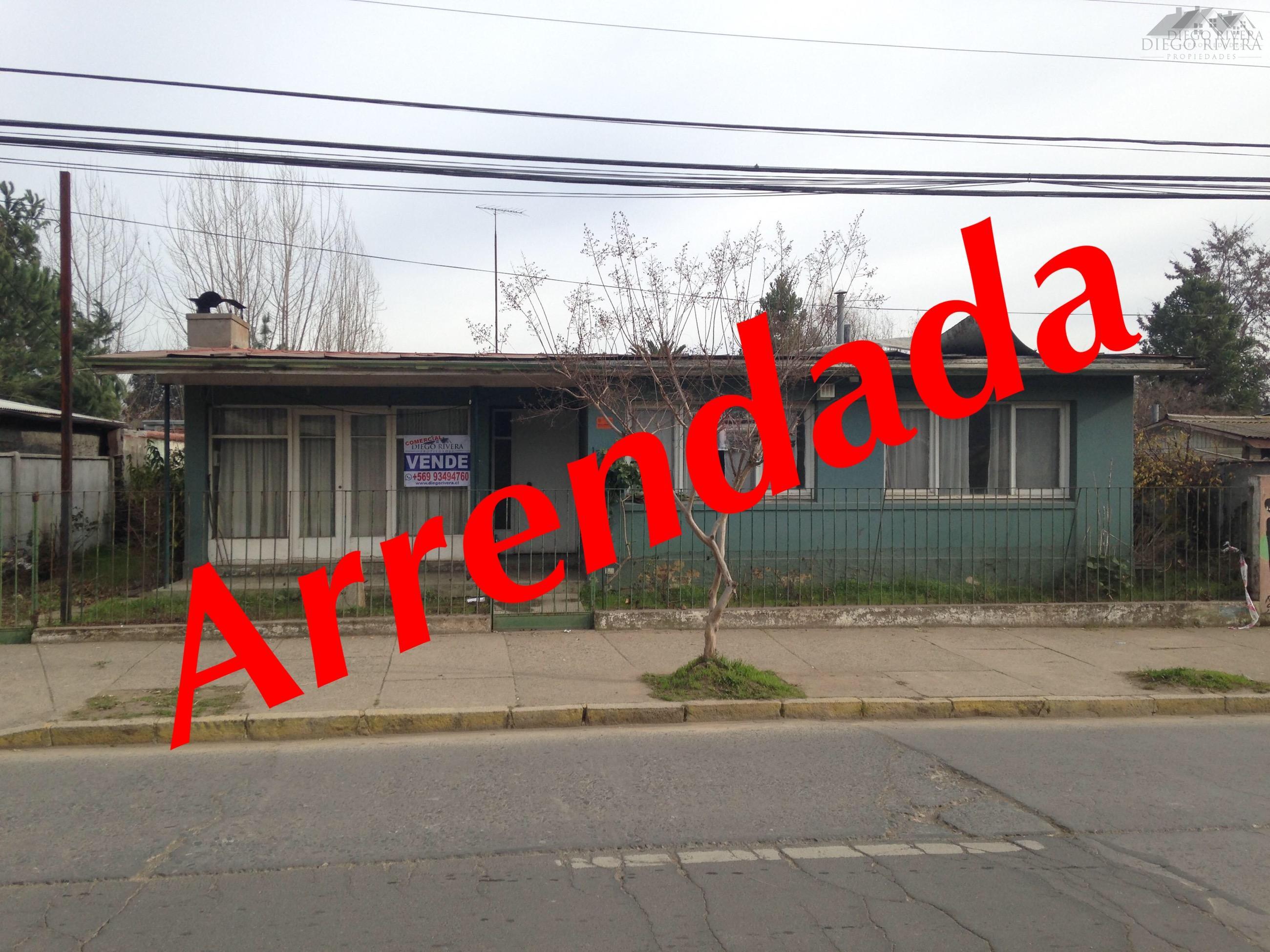 Arriendo Casa Terreno Comercial-Centro Machali